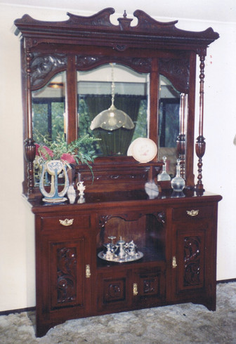 antique wall cabinet restoration after