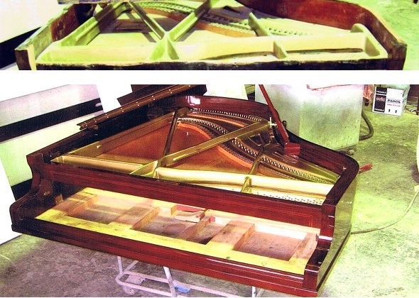 piano baby grand before after