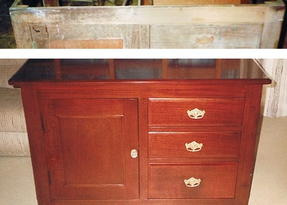 sideboard before after