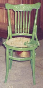 antique rattan wicker chair restoration before