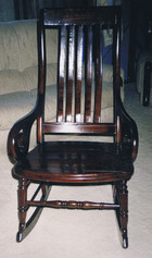 antique rocking chair restoration after