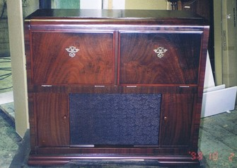 antique sideboard restored french polishing