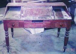 antique writing desk repair polish